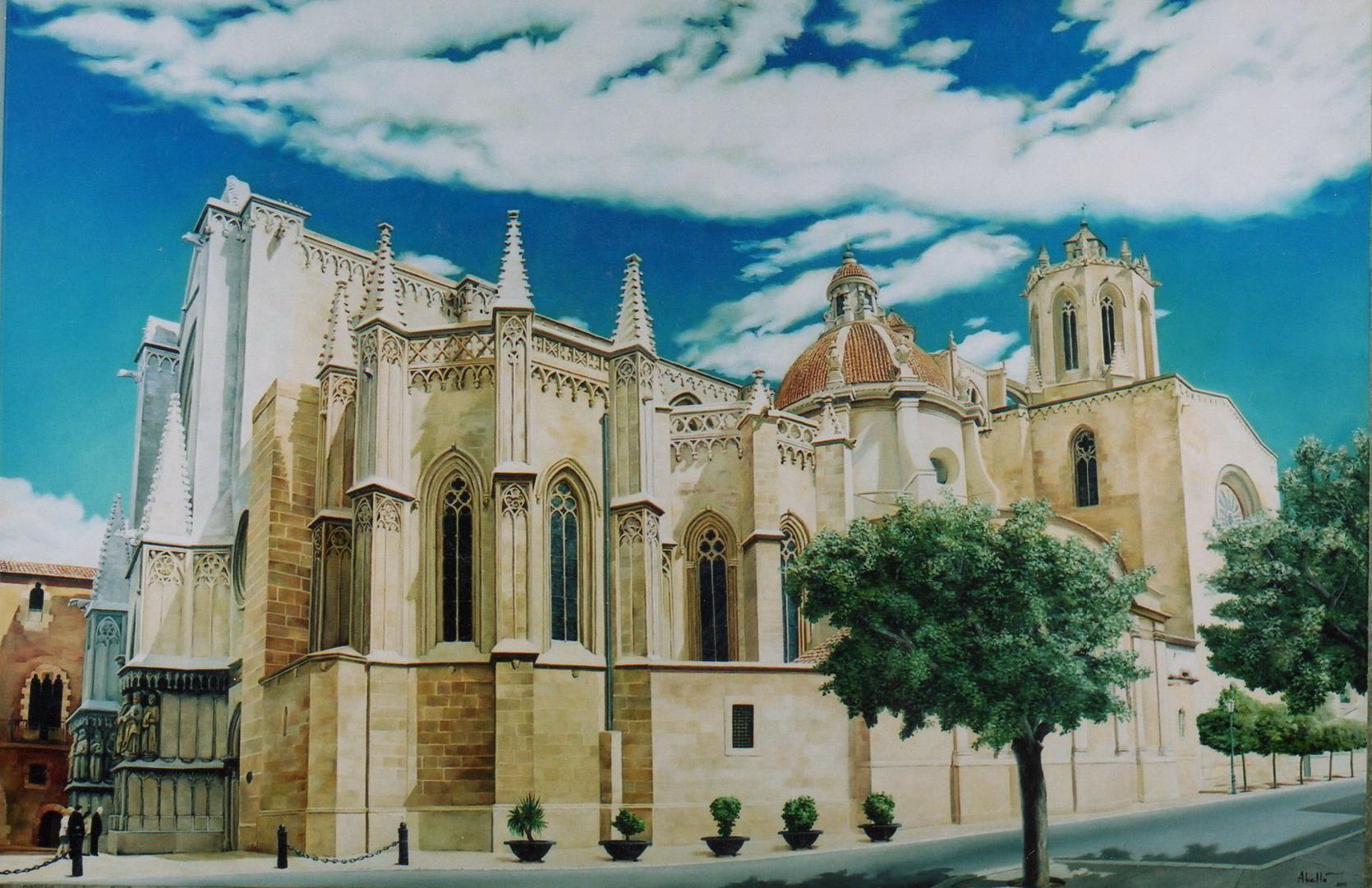2003 Catedral de Tarragona T15090301 195 x 130 oli col.part.