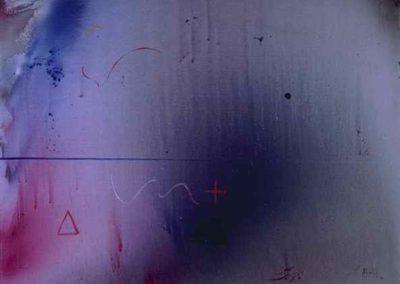 1- Analitica o trajectòria de l'esser T01049204 Téc. mixta 146 x 114 cm.