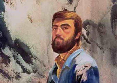 1985 Autorretrat 23 anys 100 x 81 cm. Téc. mixta