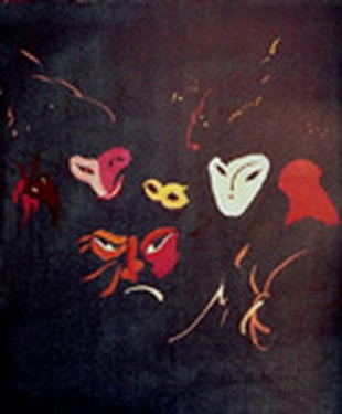 1985 Màsqueres mixta 55 x 46 cm.