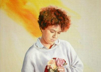1986 Carme flors T23129701 Téc. mixta acrílic oli 100 x 81 cm.