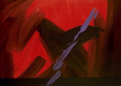 1987 Força del vermell T11039301 acrílic 146 x 97cm.
