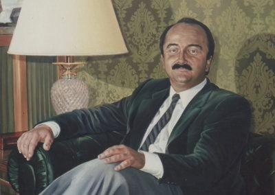 1988 Retrat al oli alcalde Sr. Abelló