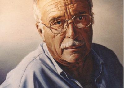 1989 Retrat Xavier Amoros oli 61 x 46 cm.