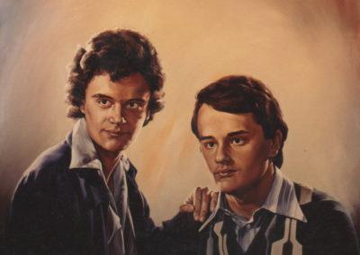 1989 Retrat nois Montaña oli
