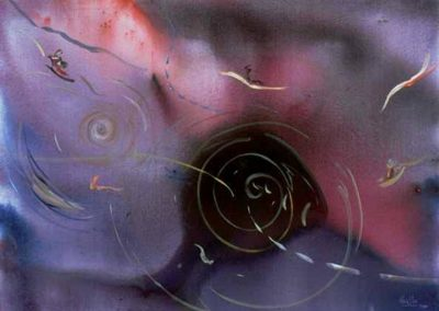 1990 Anant capa el desconegut T01049202 mixta 116 x 89 cm.