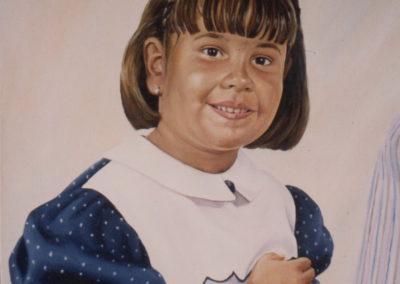 1991 retrat filla Josep oli 46 x 38 cm.