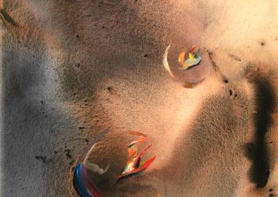 1998 Cèl·lules viatgeres T28059802 Téc. mixta 100 x 81 cm.