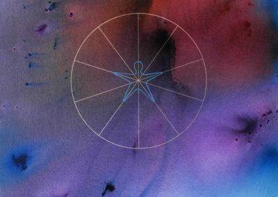 2008 Cosmos i projecció metafísica nostra T18080802 Téc. mixta 146 x 114 cm.