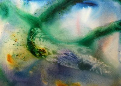 2011 Dansa de la balena o catxalot T18101101 acrílic 73 x 60 cm.