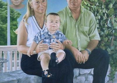 2011 Retrat Jóse Encarna Kevin i nena 2000 T10020001 oli 116 x 89 col.part.