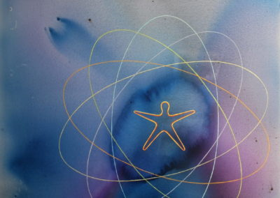 2013 Ones quàntiques en sinergia T08121301 Téc. mixta acrílic oli 146 x 114 cm.