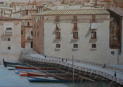 2017 Antic pont de les barques (Tortosa) T 01011801 Téc. oli 65 x 46 cm.