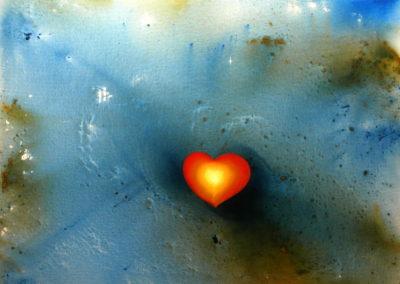 91- Anant amb el cor T05120901 Téc. mixta 100 x 80 cm.