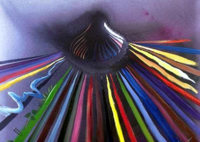 Som de mil colors T24079702 mixta acrílic oli 100x81 cm.