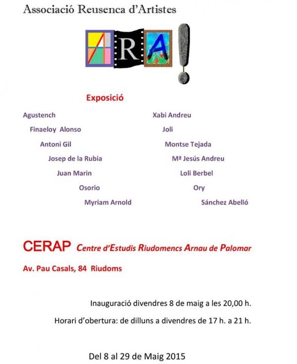 J1- CERAP Riudoms Maig 2015