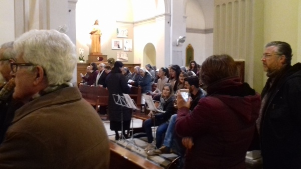 Misa arquebisbe inauguració aureola i quadres capelleta de Sta M.Rosa Molas -autoritats ajuntament, germanes Consolació, alumnes 5è/6è 23/3/2018