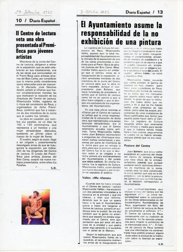 A1- 1985 Obra seleccionada al