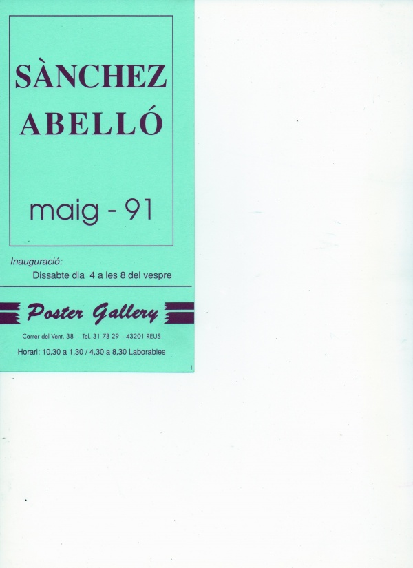 B3-1991 Poster Gallery Reus