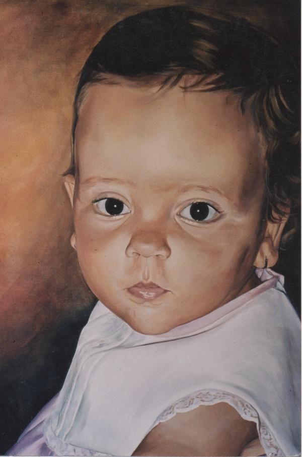 1983 Portrait oil 55 x 46 cm. private collection.