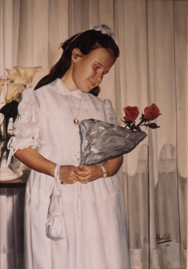 1986 portrait 92 x 73 cm. oli private collection.