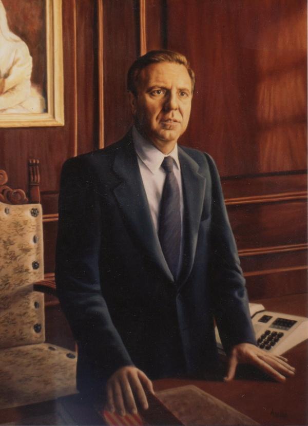 1988 Retrat oil  private collection.