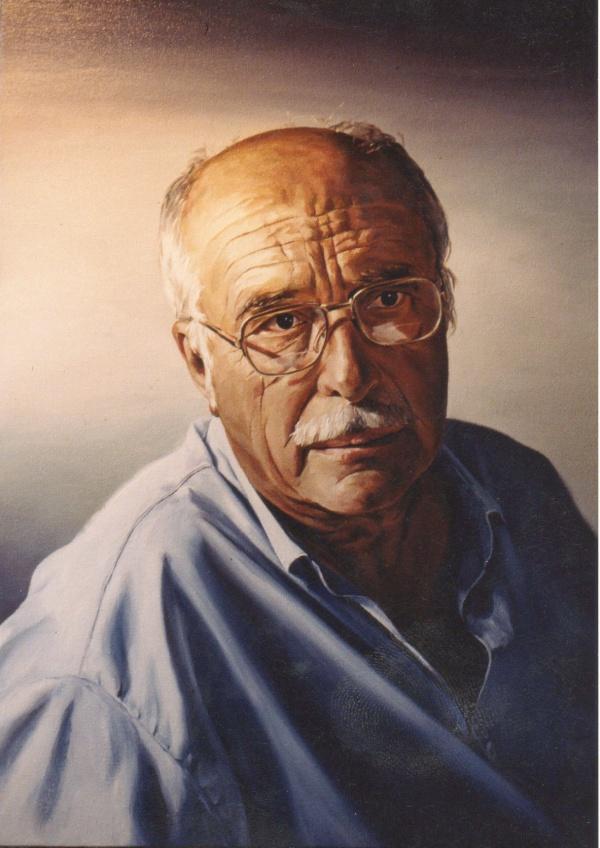 1989 portrait oil 61 x 46 cm. private collection.