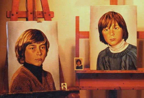 1989 Portraits  oil 43 x 33 cm. private collection.