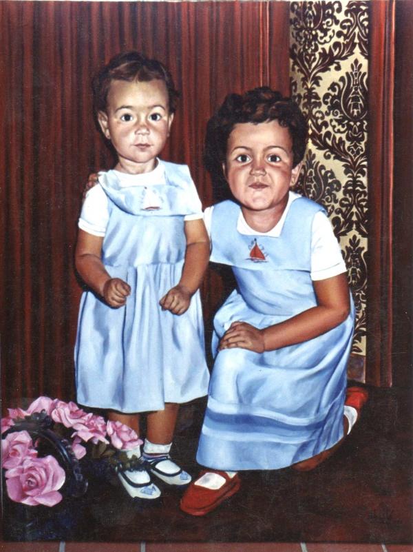 1990 Portrait oil 81 x 65 cm. private collection.