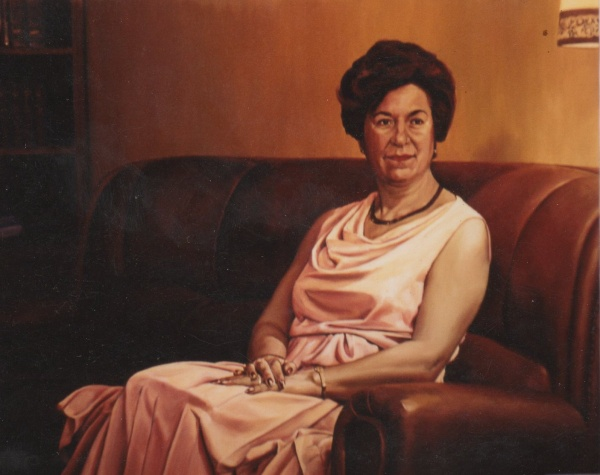 1990 Portrait oil private collection.
