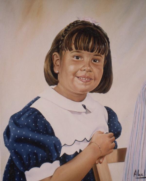 1991 Portrait oil 46 x 38 cm. private collection.
