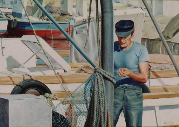 2005 Fisherman VIII T20070502 oil 65 x 46 cm. private collection.
