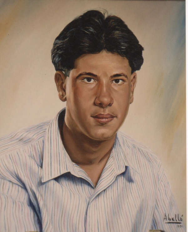 1991 Portrait 46 x 38 cm. oil private collection.