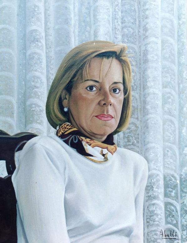 1993 Portrait oil 61 x 50 cm. private collection.