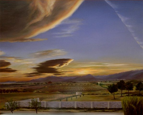 1987 Sunset 100x81 oil  private collection.